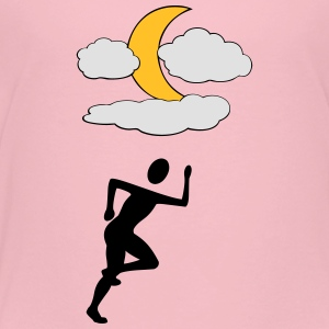 Jogger with Moon - Kids' Premium T-Shirt