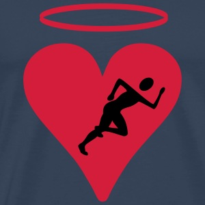 Jogger with heart - Men's Premium T-Shirt