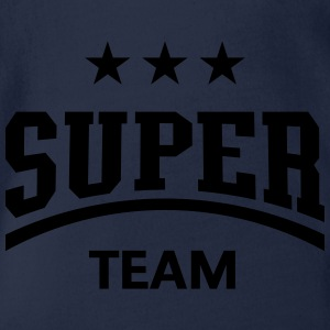 Super Team Shirts - Organic Short-sleeved Baby Bodysuit