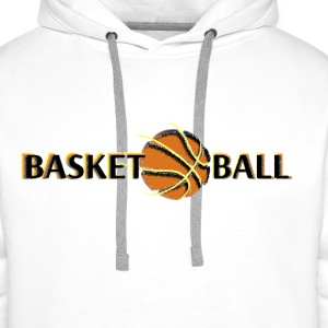 basketballball Tee shirts - Sweat-shirt à capuche Premium pour hommes
