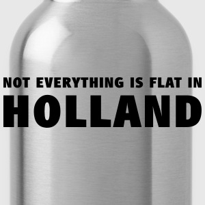 Not everything is flat in Holland T-shirts - Drinkfles