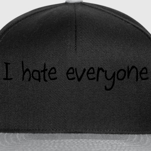 I hate everyone manches longues femme - Casquette snapback