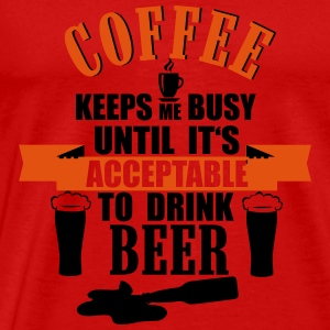 Coffee and Beer Débardeurs - T-shirt Premium Homme