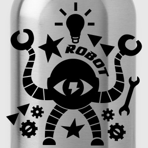 robots T-Shirts - Water Bottle