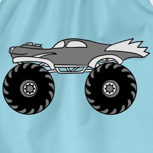 minder koel monster truck turbo T-shirts - Gymtas