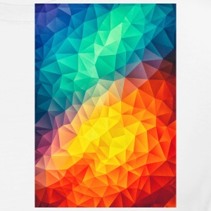 White  Abstract Colorful triangles geometry - Phone Case Other - Men's Premium T-Shirt