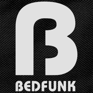 Bedfunk Silver logo on Black Hoodie - Kids' Backpack