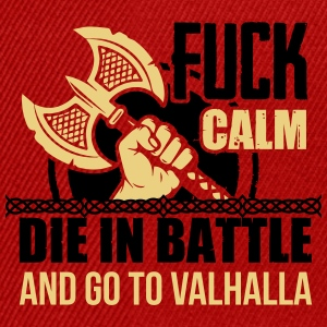 Viking - Die in battle and go to valhalla Top - Snapback Cap