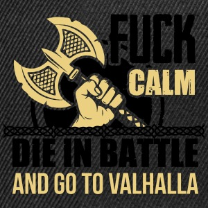 Viking - Die in battle and go to valhalla Langærmede t-shirts - Snapback Cap