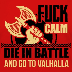 Viking - Die in battle and go to valhalla Tee shirts - T-shirt manches longues Premium Femme