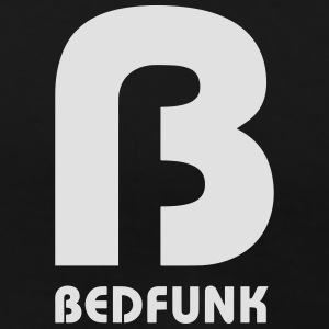Bedfunk Silver logo on Black Hoodie - Men's Premium T-Shirt