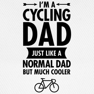 Blanc I'm A Cycling Dad... Tee shirts - Casquette classique