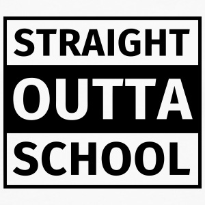 straight outta school T-Shirts - Men's Premium Longsleeve Shirt