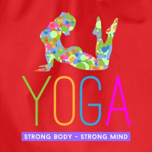 yoga strong body strong m Tops - Turnbeutel