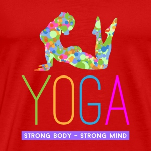 yoga strong body strong m Tops - Männer Premium T-Shirt