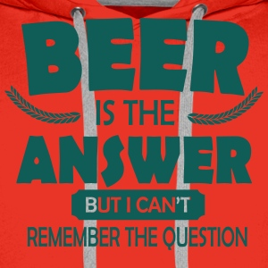 Beer is the answer Koszulki - Bluza męska Premium z kapturem