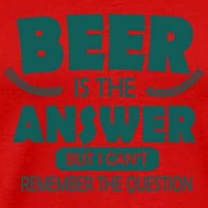 Beer is the answer Tanktoppar - Premium-T-shirt herr