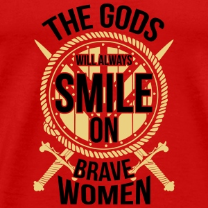 Wikinger - gods smile on brave women Tops - Men's Premium T-Shirt