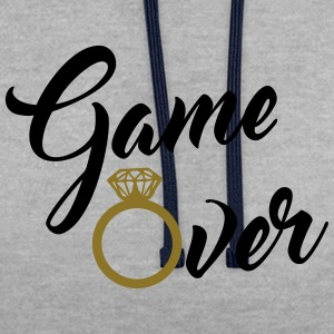 game over T-Shirts - Kontrast-Hoodie