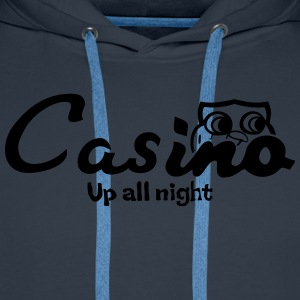 Casino up all night - Men's Premium Hoodie