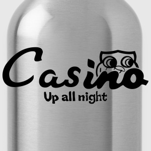 Casino up all night - Water Bottle