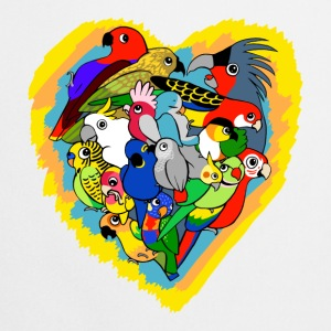 I heart parrots - Cooking Apron