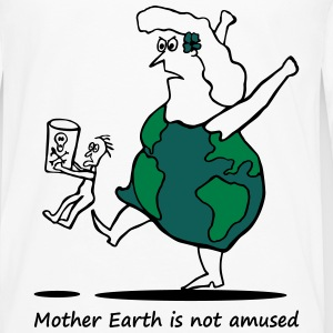 Mother Earth is not amused - Mutter Erde 3 colours Topy - Koszulka męska Premium z długim rękawem