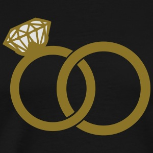 wedding rings Langarmshirts - Männer Premium T-Shirt