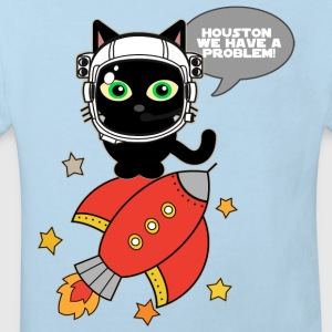 Space Cat - Houston we have a problem - Kids' Organic T-shirt