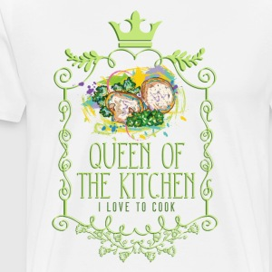 queen_of_the_kitchen_02201602 Schürzen - Männer Premium T-Shirt