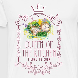 queen_of_the_kitchen_02201611 Schürzen - Männer Premium T-Shirt