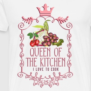 queen_of_the_kitchen_02201619 Schürzen - Männer Premium T-Shirt