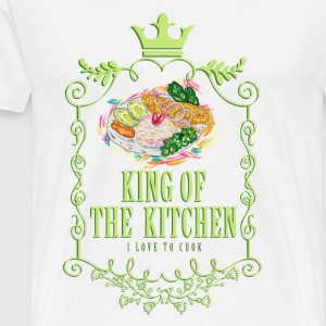 king_of_the_kitchen_02201606 Schürzen - Männer Premium T-Shirt