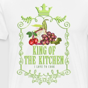 king_of_the_kitchen_02201601 Schürzen - Männer Premium T-Shirt