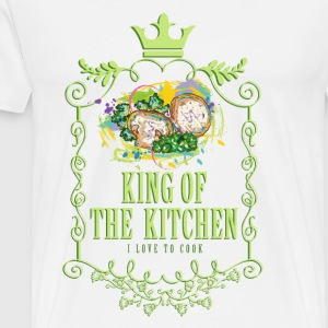 king_of_the_kitchen_02201602 Schürzen - Männer Premium T-Shirt