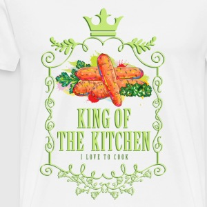 king_of_the_kitchen_02201603 Schürzen - Männer Premium T-Shirt