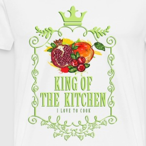 king_of_the_kitchen_02201605 Schürzen - Männer Premium T-Shirt