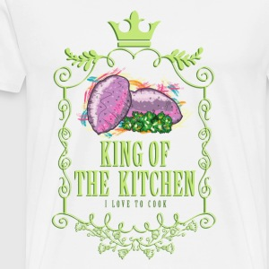 king_of_the_kitchen_02201608 Schürzen - Männer Premium T-Shirt