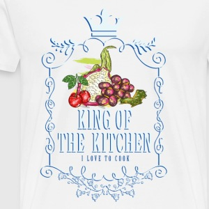 king_of_the_kitchen_02201610 Schürzen - Männer Premium T-Shirt