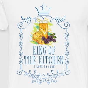 king_of_the_kitchen_02201618 Schürzen - Männer Premium T-Shirt