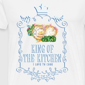 king_of_the_kitchen_02201616 Schürzen - Männer Premium T-Shirt
