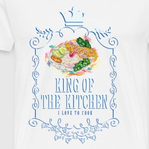 king_of_the_kitchen_02201615 Schürzen - Männer Premium T-Shirt