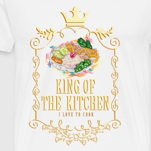 king_of_the_kitchen_02201624 Schürzen - Männer Premium T-Shirt