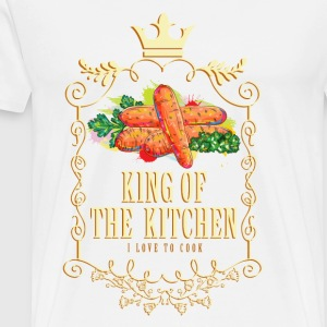king_of_the_kitchen_02201621 Schürzen - Männer Premium T-Shirt