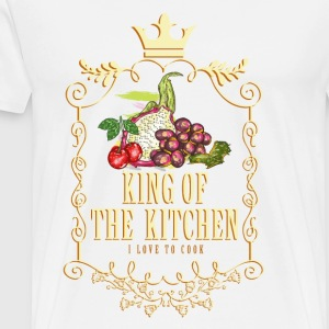 king_of_the_kitchen_02201619 Schürzen - Männer Premium T-Shirt