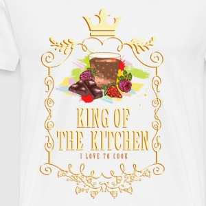 king_of_the_kitchen_02201622 Schürzen - Männer Premium T-Shirt