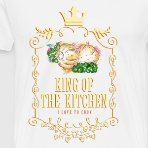 king_of_the_kitchen_02201625 Schürzen - Männer Premium T-Shirt