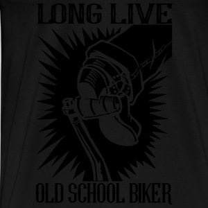 Long Live Old School Biker - Camiseta premium hombre