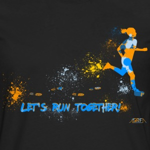Let's run together! Camisetas - Camiseta de manga larga premium hombre