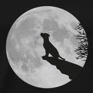 Full moon Cliff dog puppy puppy werewolf howl Tops - Men's Premium T-Shirt